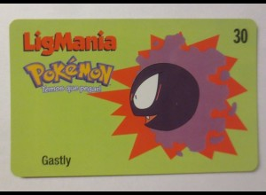 Telefonkarte, Pokemon LigMania, Gastliy, Jahr 2000 ♥