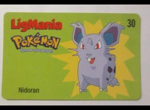 Telefonkarte, Pokemon LigMania, Nidoran, Jahr 2000 ♥ (3499)