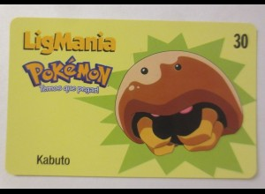 Telefonkarte, Pokemon LigMania, Kabuto, Jahr 2000 ♥