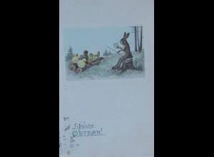 """""""Ostern, Osterhase, Küken, Lehrer"""" 1913 ♥ (12857)"""