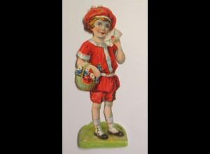 Oblaten, Kinder, Blumen, Brief, 1900, 11,5 cm x 4 cm ♥ (50950)