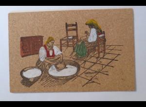 """""""Korkkarte, Beruf, Arbeiterinen"""" 1910 ♥ (14302)"""