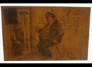 """Männer, Stock, Klingel"" 1932, Halt gegen das Licht ♥ (30723)"