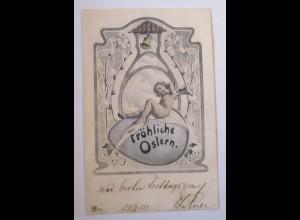 """Ostern, Engel"" 1902 Hirschberg-Schlesien Powiat Jeleniogórski ♥ (29910)"