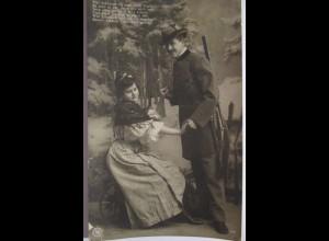 Jagd, Jäger und Frau, 1909 aus Koblenz