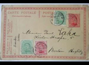 Belgien, Ganzsache 1921 mit Zusatz nach Berlin (67201)