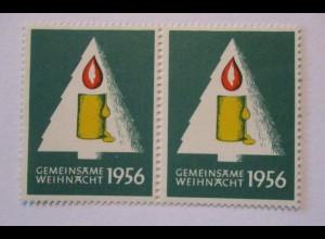 Weihnachten ohne Grenzen 1956, postfrisches Paar