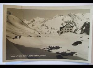 Tirol, Franz Senn Hütte, Fotokarte Hüttenstempel 1939 (13401)