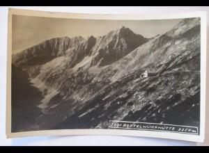 Tirol, Bettelwurfhütte, Fotokarte Hüttenstempel 1928 (26890)