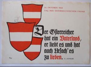 Österreich, Der Österreicher hat ein Vaterland, Ballonpost 1964 (45466)