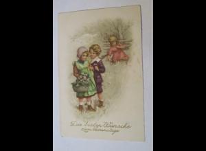 Namenstag, Kinder, Blumen, 1926 ♥ (22806)