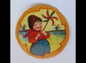 Oblaten, Kinder, Windmühle, 1900 3,5 cm x 3,5 cm ♥ (51959)