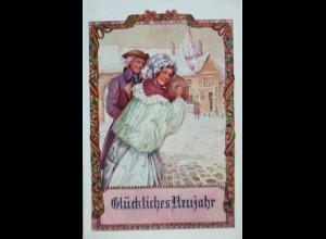 Bund der Deutschen, Neujahr, Muff, Frauen, Nr.160, 1913 ♥ (11264)