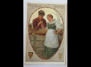 Ostern, Männer, Frauen, Ostereier, 1910, Deutscher Schulverein Nr. 590 ♥ (30760)