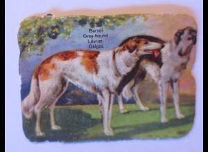 Oblaten, Hund, Windhund, 1900 5,5 cm x 4 cm ♥ (63428)