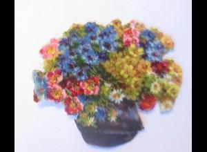 Oblaten, Blumen, 1900 7 cm x 6 cm ♥ (33133)