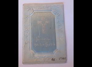 Taufe, Jugendstil, Stoffkarte, 1900, Klappkarte ♥ (58010)