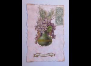 Geburtstag, Trockenblume, Oblate, 1909 ♥ (58013)