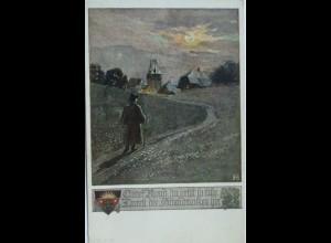 """""""Deutscher Schulverein, Guter Mond, Vignette, Nr.1075"""" 1912 ♥ (10878)"""