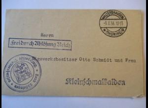 D.Reich, Thüringen, Amt Waltershausen 1936 (38727)