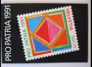 Schweiz, Pro Patria 1991, Markenheftchen gestempelt