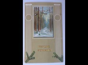 Weihnachten, Biedermeier, Winter, Wald, 1906 ♥