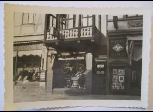 Quedlinburg, Fahrrad Geschäft Friedrich Herrschaft, orig. Foto ca.1930 ♥ (612)