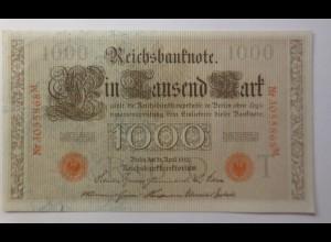 Geldschein, 1000 Mark, Reichsbanknote Eintausend Mark, 1910 ♥