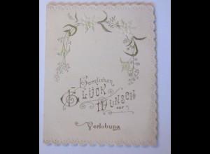 """Verlobung, Edelweiß"" 1900, Klappkarte ♥"