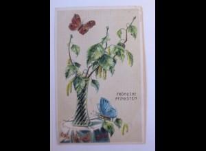 Pfingsten, Schmetterling, Vase, Glas, 1912 ♥ (41877)
