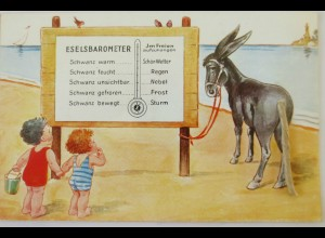 """Eselsbarometer, Kinder, Esel""ca. 1920 ♥"