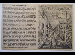 D.Reich Novemberrevolution 1918, Rote Fahne, Kaiser Wilhelm Hamsterlager (52195)