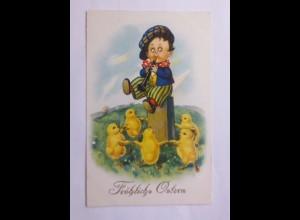 Ostern, Kinder, Flöte, Küken, Ringelreihe, Musizieren, 1930 ♥ (59532)