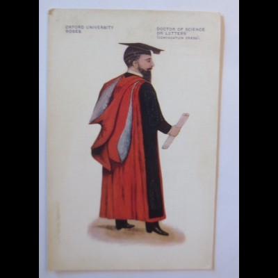 Studentika,, Oxford University Robes, Doctor of Science, 1914 ♥