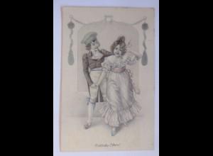 Ostern, Frauen, Männer, Mode, Biedermeier, 1907 ♥ (63048)