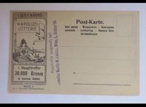 """""""Lotterie, Polizei, Österreich Wien, Graben"""" 1900 ♥ (46668)"""