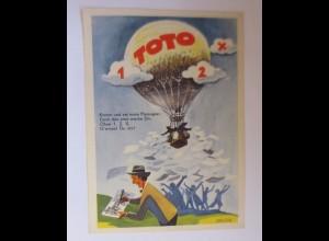 """Lotterie, Werbung, Toto, Heißluftballon, ""1950, Brazda ♥"