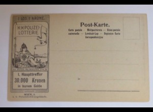 """""""Lotterie, Österreich, Wien, Polizei Lotterie"""" 1900 ♥ (46661)"""