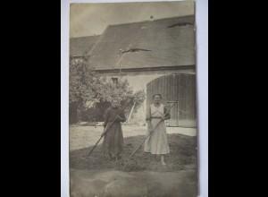 Berufe, Bauer Landwirtschaft, Frauen, Fotokarte ca. 1918