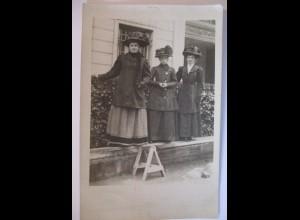 Frauen Mode Hutmode, Fotokarte ca. 1910
