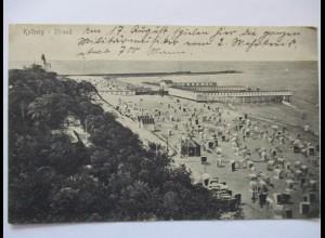 Pommern, Polen, Kolberg, Kołobrzeg, Strand, ca. 1910