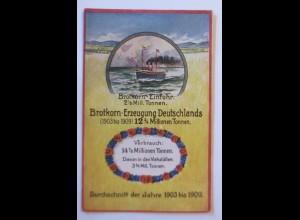 Schiffe, Brotkorn-Einfuhr, Volkswirtschaftliche Wahrheiten, 1909 ♥ (8516)
