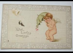 Valentinstag, Engel, Schirm, Reis, Schuh, Rose, 1902 ♥ (20500)