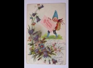 Pfingsten, Zwerge, Maikäfer, Blumen, 1904 ♥ (39356)