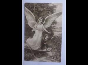 Geburt, Engel, Schutzengel, Kinder, Boot 1919 ♥ (62347)