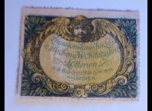 Vignetten, Lotterien Missionshaus für Lose Kirchen Wohltätigkeit 1914 ♥ (13905)