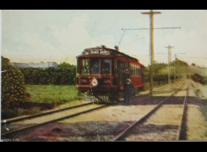 USA, Orange County, Oak Knoll, Tilton´s Trolley Trip, ca. 1910
