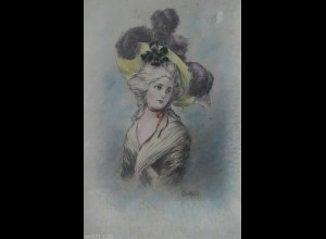 Künstlerkarte, Frauen, Hutmode, Mode, 1902 ♥ (16814)