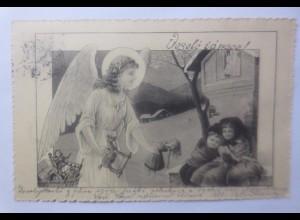 Weihnachten, Engel, Christkind, Kinder, Spielzeug 1900 ♥ (62349)