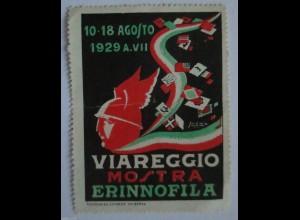 Italien, Viareggio Mostra Erinnofila 1929, Vignette, Reklamemarke (23240)